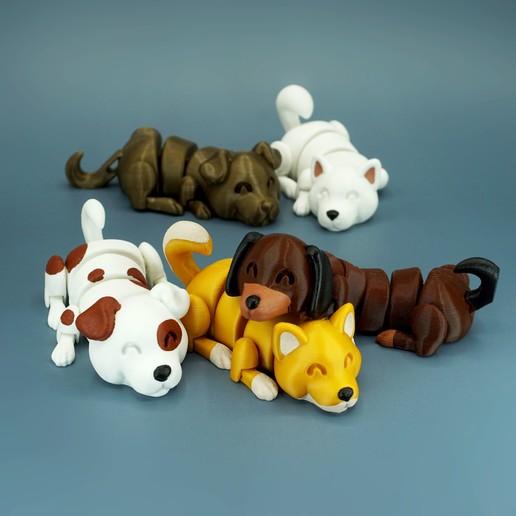 DSC01658 copia.jpg Download STL file Lazy Dogs • 3D print design, mcgybeer