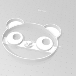 Download free 3D printer templates Panda cookie cutter, Indibles