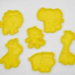 safari-0135.jpg Télécharger fichier STL Mignons animaux de safari : emporte-pièce / timbre • Objet imprimable en 3D, Indibles