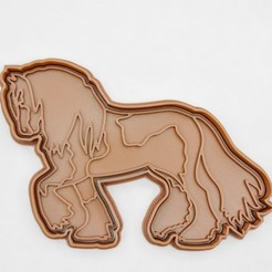 Gypsy Vanner Horse.jpg Download STL file Gypsy Vanner Horse cookie cutter / stamp • 3D printer object, Indibles