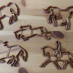 Download 3D printer files Horse Cookie Cutter set, Indibles