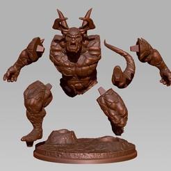 Descargar modelos 3D para imprimir LavaOrc: Criatura de fantasía imprimible en 3D, Nairat