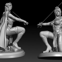 Descargar modelos 3D para imprimir Reina Guerrera, Nairat