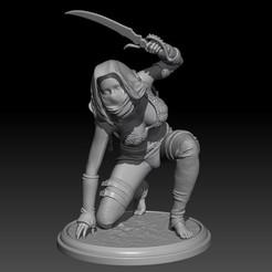 Descargar STL Thief Girl: Figura imprimible 3d de una chica de fantasía, Nairat