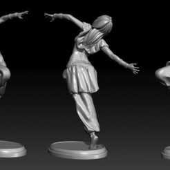 Download 3D printing files Desert Dancer: printable 3d model of a dancer girl, Nairat