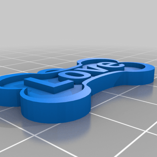 Download free 3D printer templates Name Love, AleMapa3D
