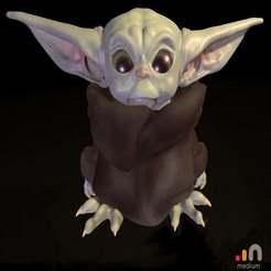 Yoda_pose_Medium01.jpg Télécharger fichier STL gratuit Bébé Yoda • Plan pour imprimante 3D, planemovisual