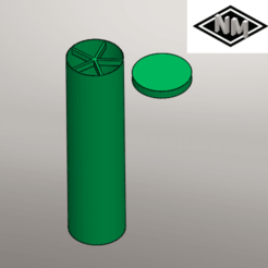 Captura de pantalla 2020-09-20 014533.png Download free STL file Cylindrical container with divider and lid • Model to 3D print, NicolasMonti
