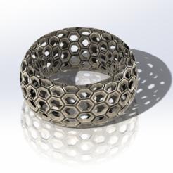Download free 3D print files Honeycomb pattern bracelet, saraguo000