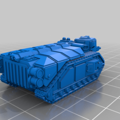 Impresiones 3D gratis Tanque pequeño y más grande APC, woddish