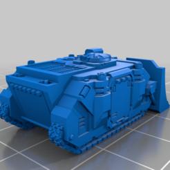 Impresiones 3D gratis El pequeño tanque del obús de lujo, woddish