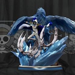 covermayb3.jpg Download STL file One Piece - Aokiji Kuzan Marine Admiral statue - Blue Pheasant 3D print model • 3D printable model, pako000