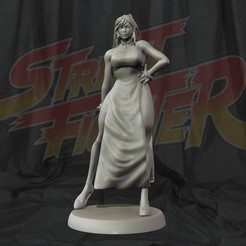 cover1.jpg Download STL file Chun Li Street fighter 3d print figurine • 3D printing template, pako000