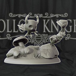 cover1.jpg Download STL file Hollow Knight Diorama statue 3d print • 3D printable template, pako000