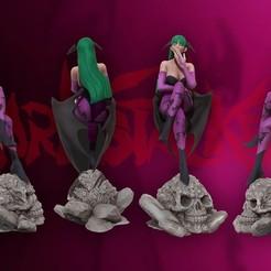 cover1.jpg Download STL file Morrigan Aensland 3d print figure statue - darsktalkers MvC • 3D printable model, pako000