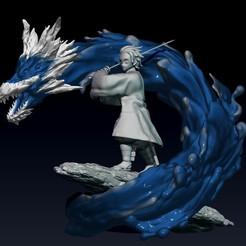 Descargar STL kimetsu no yaiba - demonio asesino estatua/figura de tanjiro, pako000