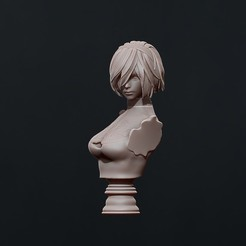 Download 3D printer files 2B - nier automata - 3d print bust, pako000