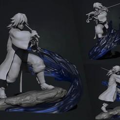 Download STL files kimetsu no yaiba - demon slayer - tomioka giyuu 3d print statue, pako000