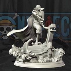 shanks for yonko pack.jpg Download STL file Red Hair Shanks V2 3d print statue - One Piece figurine • 3D printer template, pako000