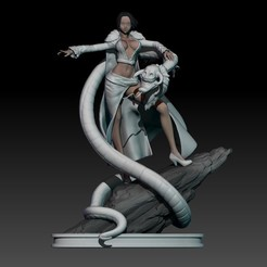 Download STL file boa hancock form one piece - small statue/figurine, pako000