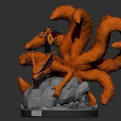Descargar modelos 3D estatua/figura de naruto y kurama, pako000