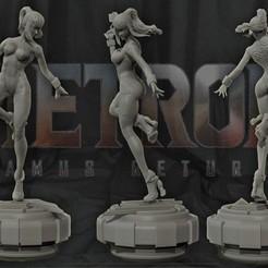 COVER.jpg Download STL file Samus Aran - Metroid 3D print figurine • 3D printer model, pako000