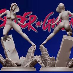 Télécharger fichier impression 3D spider gwen 3d print figurine statue - into the spiderverse, pako000