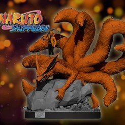 coverv1.jpg Download STL file naruto and kurama statue/figurine • 3D print object, pako000