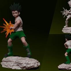 Download 3D printer files Gon Freecss - Hunter x Hunter 3d print Statue - Figurine, pako000