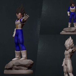COVER.jpg Download STL file vegeta - dragon ball 3d print figurine • Model to 3D print, pako000