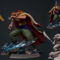 Descargar modelos 3D One Piece - Edward Newgate - Estatua de Barba Blanca con impresión en 3d, pako000