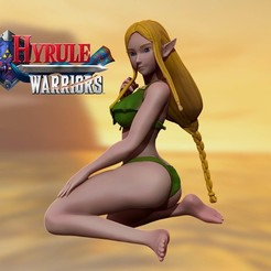 cover.jpg Télécharger fichier STL princess zelda - maillot de bain - hyrule warriors 3d print figurine 3D print model • Plan imprimable en 3D, pako000