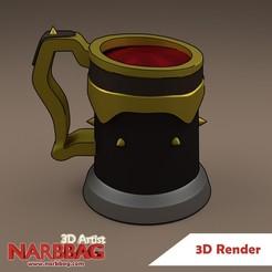 Mug-fan-art-render-SOT-cults-mini.jpg Descargar archivo STL gratis SOT Mug Fan Art - Jarra de Sea of Thieves • Diseño para imprimir en 3D, Narbbag