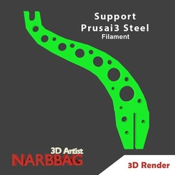 Descargar archivo 3D gratis Soporte Filamento Prusai3 Steel, Narbbag