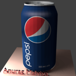 Pepsi front.png Download STL file Pepsi Can 3D Model • Object to 3D print, theanuragmalviya