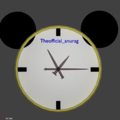 Descargar modelo 3D Reloj de pared 3D, theanuragmalviya
