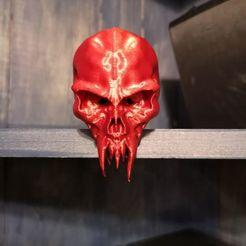 123712896_1045281355901042_2459214570987083518_n.jpg Download STL file Skull head and skull trophy • 3D printable template, lap88777