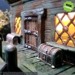 RPG_SmallChest1.jpg Télécharger fichier STL gratuit Petit Coffre (28mm) • Modèle pour impression 3D, stratation