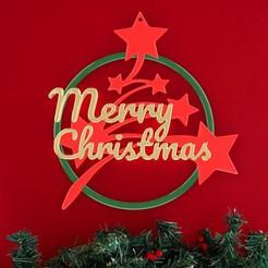 Télécharger objet 3D Anneau Merry Christmas, stratation