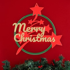Imprimir en 3D Feliz Navidad Anillo, stratation