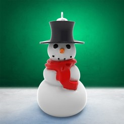 Boule_BonhommeNeige1.jpg Download STL file Christmas Decoration - Bonhomme de Neige • Design to 3D print, stratation