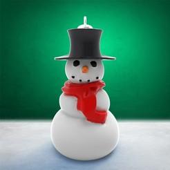 Descargar modelos 3D para imprimir Decoración navideña - Muñeco de nieve, stratation
