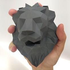 Impresiones 3D gratis Decoración - León (LowPoly), stratation