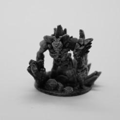 RPG_StoneGolem1.jpg Télécharger fichier STL gratuit Golem de Pierre (28mm) • Plan pour imprimante 3D, stratation