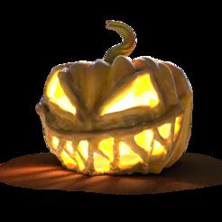 Deco_DreadfulJackOLantern1.png Download STL file Halloween Decoration - Dreadful Jack-O'-Lantern • 3D printable design, stratation