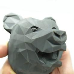 Télécharger plan imprimante 3D Décoration - Ours (LowPoly), stratation