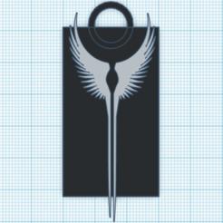 Télécharger plan imprimante 3D gatuit Porte-clés Valkyrie Wings, ElPerro