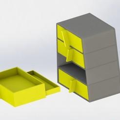 Descargar archivos STL Armario con cajón secreto, ScaleToReal