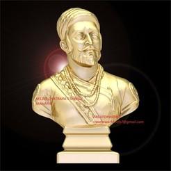 Descargar archivos STL M1205 Chatrapati Sivaji Busto de Maharaj, CreatorWorld