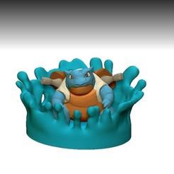 Descargar STL diorama pokemon (blastoise), lorenRCV